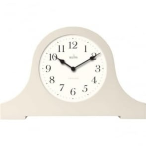 Cream Quartz Battery Napoleon Mantle Clock Whiston 33762
