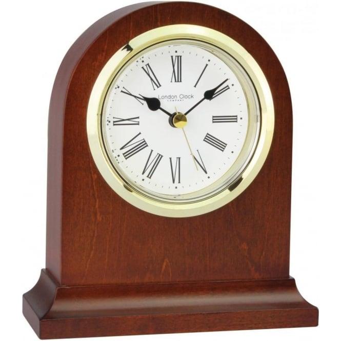 Dark Wooden Mahogany Finish Battery Mantle Clock Living