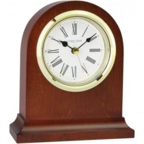 Dark Wooden Mantle Clock Height 17cm 06316