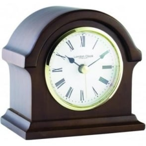 Dark Wooden Quartz Battery Mantle Clock 12cm Tall 06430