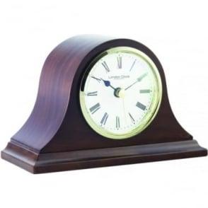 Dark Wooden Quartz Napoleon Mantle Clock 06432