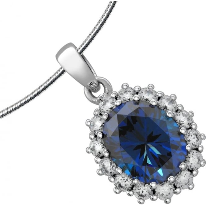Diamonfire Sterling Silver Cubic Zirconia Cluster Pendant