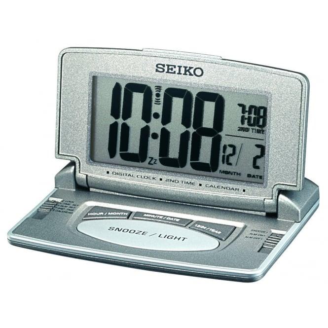 Seiko Clocks Digital Quartz Folding Travel Alarm Clock QHL021N