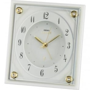 Emblem Quartz Battery Mantle Clock, Marble Fronted AHR592W