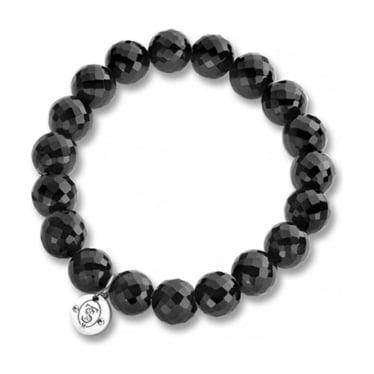 Faceted Onyx Stretch Bracelet 2512OZ