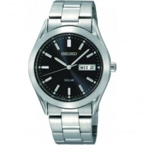 Gens Stainless Steel Seiko Solar Watch on Bracelet SNE039P1