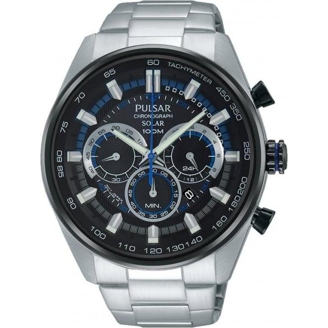Pulsar Gents Pulsar Solar Chronograph Watch on Bracelet PX5019X1