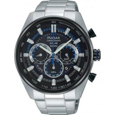 Gents Pulsar Solar Chronograph Watch on Bracelet PX5019X1