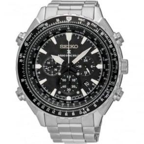Seiko Watches Gents Radio Sync Solar Powered World Time Watch SSG001P1
