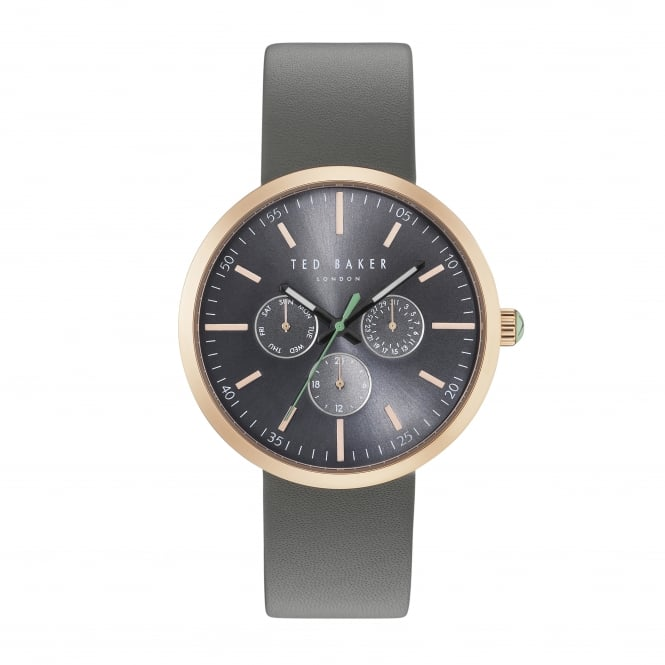 Gents Rose Gold Tone Battery Watch on Leather Strap TE10031503