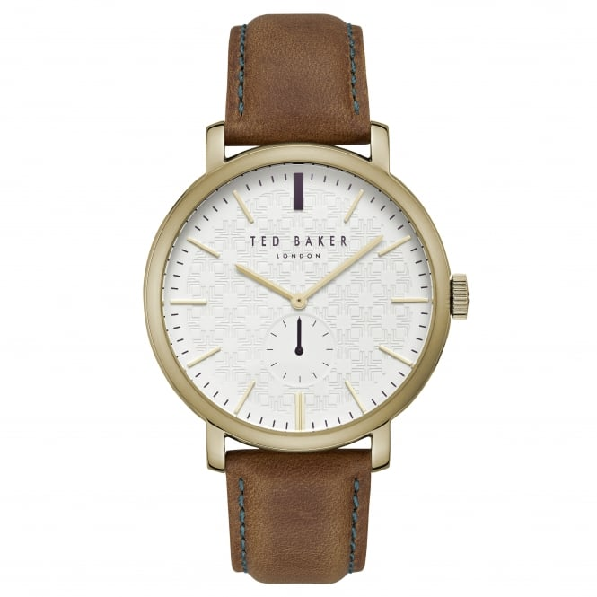 Gents Rose Gold Tone Watch on Leather Strap TE15193006