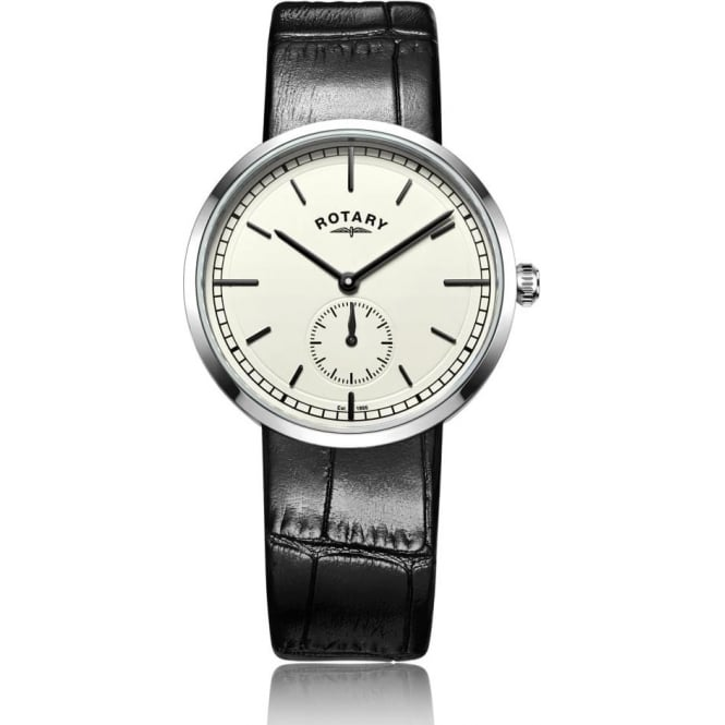 Rotary Watches Gents Rotary Battery Watch, Leather Strap, Canterbury GS05060/02