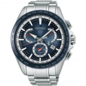 Gents Seiko Astron Radio Controlled GPS Bracelet Watch SSE053J1