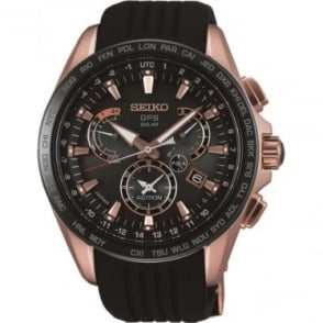 Gents Seiko Astron Radio Controlled GPS Watch on Strap SSE055J1