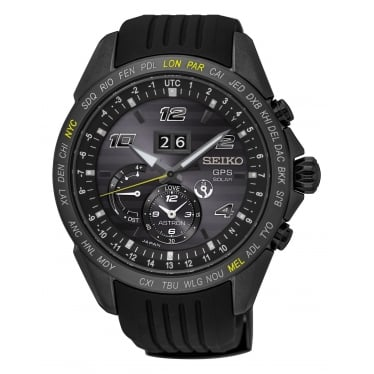 Gents Seiko Astron Solar GPS Watch on Rubber Strap SSE143J1