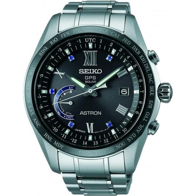 Seiko Astron Gents Seiko Astron Titanium Solar GPS Watch on Bracelet SSE117J1