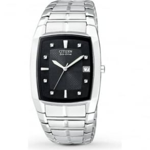 Gents Stainless Steel Bracelet Eco-Drive BM6550-58E