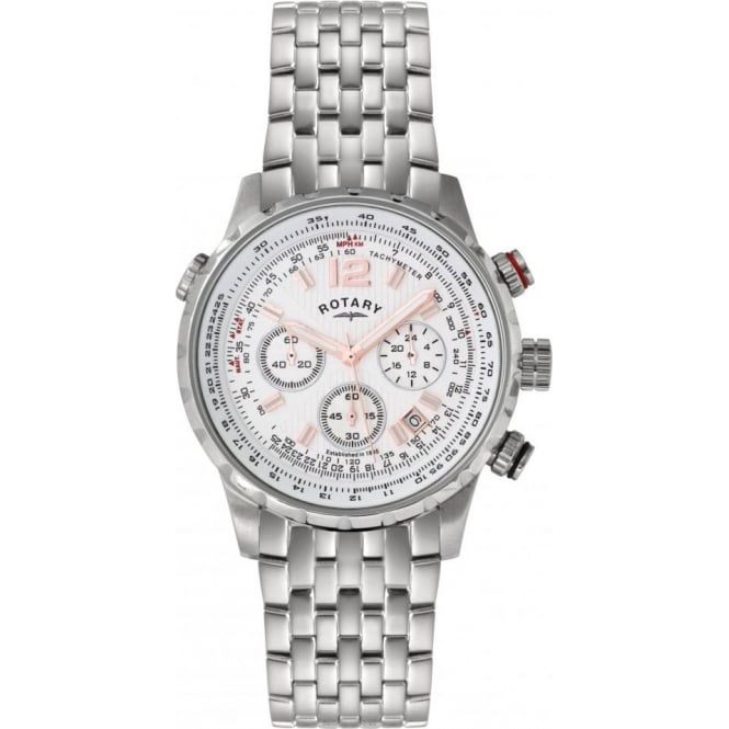 Rotary Watches Gents Stainless Steel Chronograph on Bracelet GB00149/01