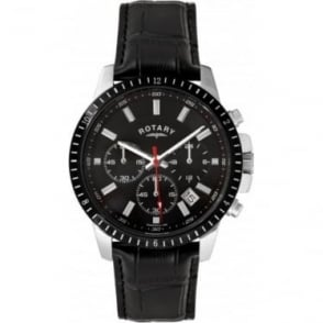 Gents Stainless Steel Chronograph on Leather Strap GS00173/04