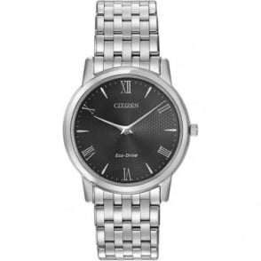 Gents Stainless Steel Citizen EcoDrive Bracelet Watch AR1120-50F