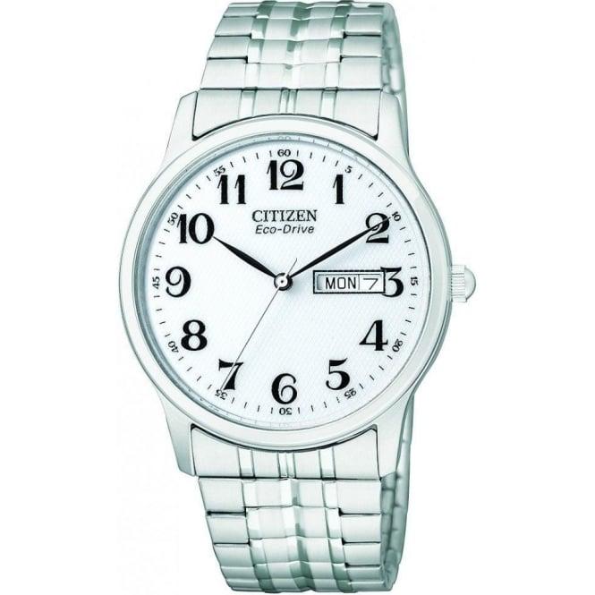 Citizen Watch Gents Stainless Steel Citizen EcoDrive Bracelet Watch BM8450-94B