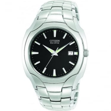 Gents Stainless Steel Eco-Drive Watch on Bracelet BM6010-55E