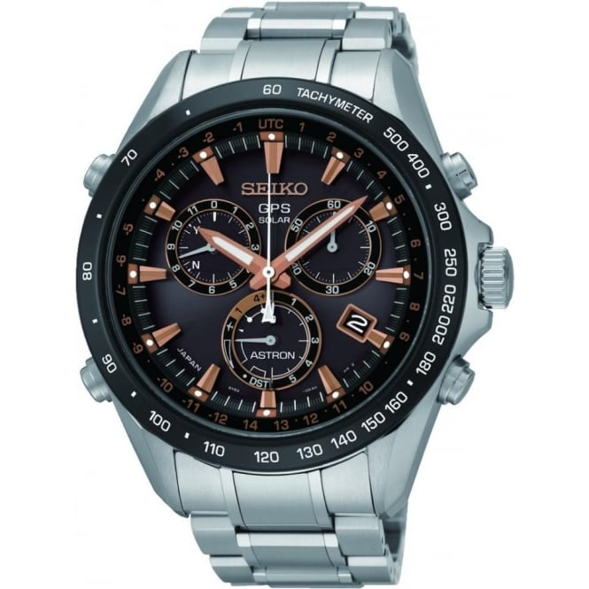 Seiko Astron Gents Stainless Steel Radio Controlled GPS Watch SSE033J1