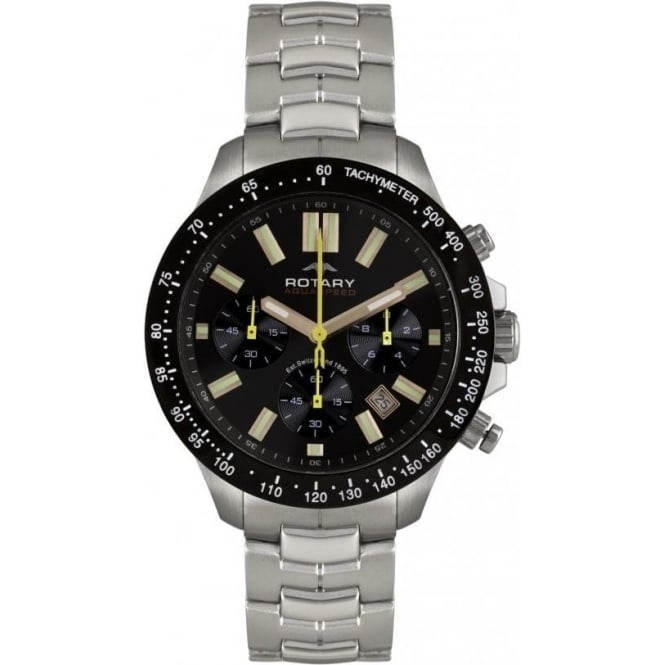 Rotary Watches Gents Stainless Steel Rotary Aquaspeed Bracelet Watch AGB00074
