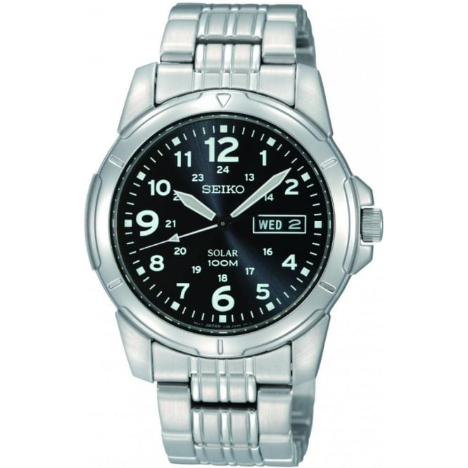 Seiko Watches Gents Stainless Steel Solar Bracelet Watch SNE095P1