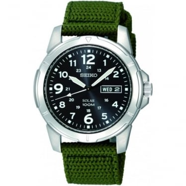 Gents Stainless Steel Solar Powered Watch SNE095P2