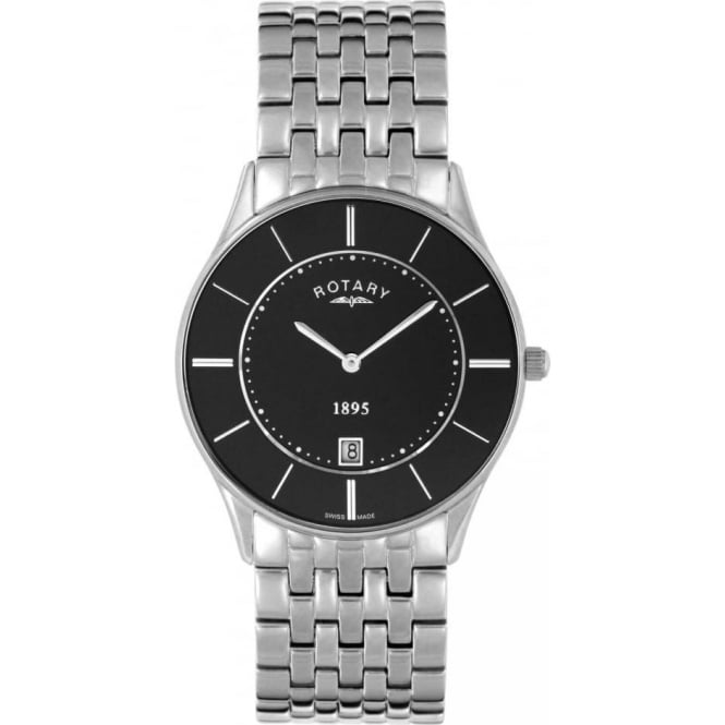 Rotary Watches Gents Stainless Steel Ultra Slim Watch on Bracelet GB08200/04
