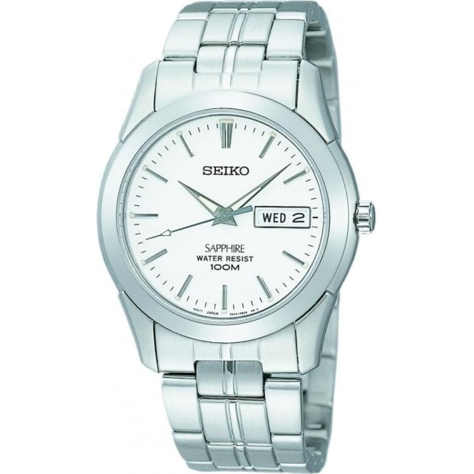 Seiko Watches Gents Stainless Steel Watch on Bracelet, Sapphire Glass SGG713P1