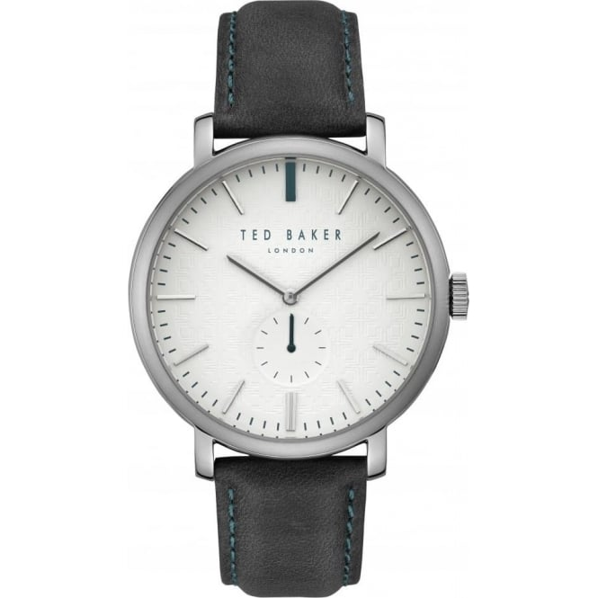 Gents Stainless Steel Watch on Leather Strap TE15193007