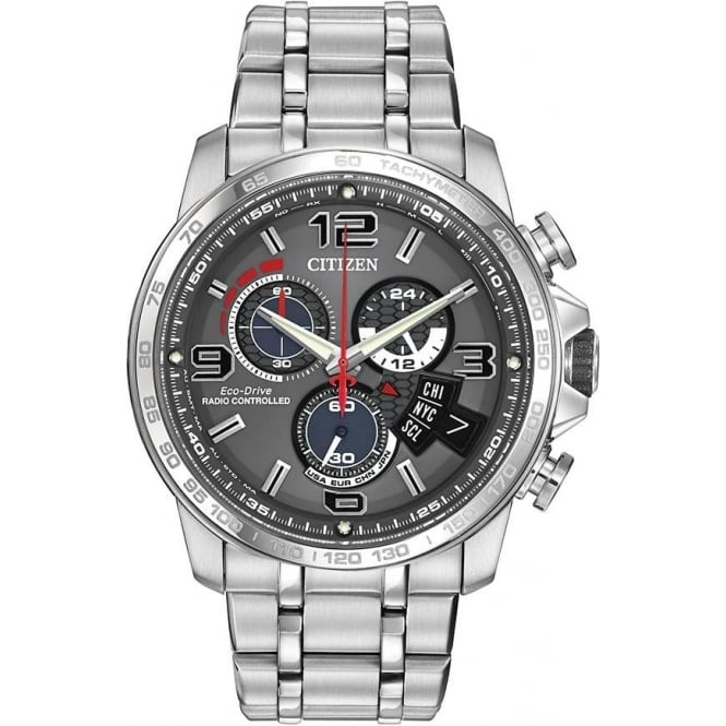 Citizen Watch Gents Steel Radio Controlled Eco-Drive Bracelet Watch BY0100-51H