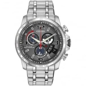 Gents Steel Radio Controlled Eco-Drive Bracelet Watch BY0100-51H