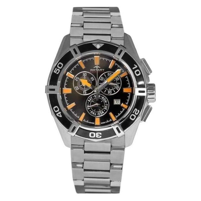 Rotary Watches Gents Steel Rotary Aquaspeed Quartz Watch Bracelet AGB90088/C/04