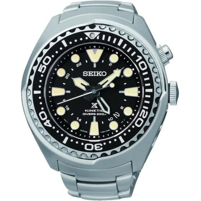 Seiko Watches Gents Steel Seiko Prospex Kinetic Divers Watch SUN019P1