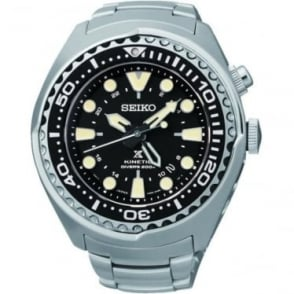 Gents Steel Seiko Prospex Kinetic Divers Watch SUN019P1