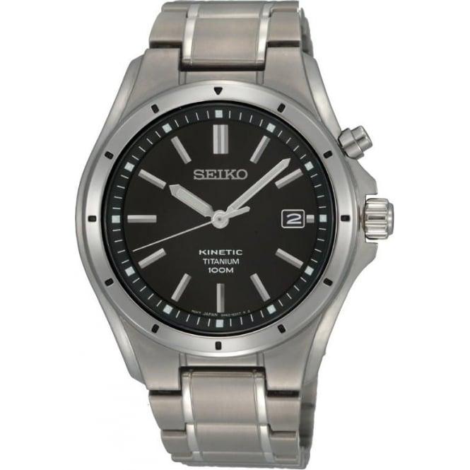 Seiko Watches Gents Titanium Kinetic Bracelet Watch SKA493P1