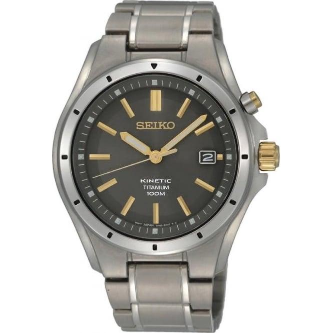 Seiko Watches Gents Titanium Seiko Kinetic Bracelet Watch SKA495P1