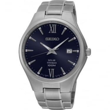 Gents Titanium Seiko Solar Watch on Bracelet SNE407P1