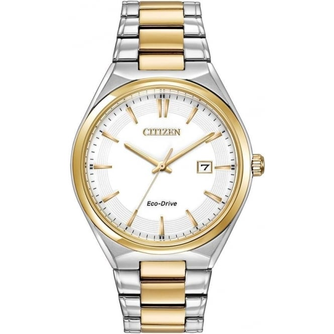 Citizen Watch Gents Two Tone Eco-Drive Bracelet Watch BM7314-55A