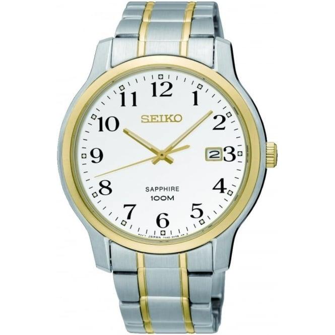 Seiko Watches Gents Two Tone Seiko Solar Bracelet Watch SGEH68P1