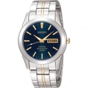 Gents Two Tone Stainless Steel Bracelet Watch SGGA61P1
