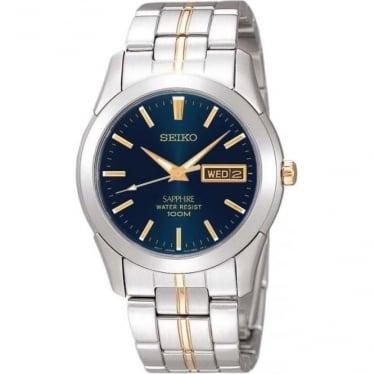 Gents Two Tone Stainless Steel Bracelet Watch SGGA61P1