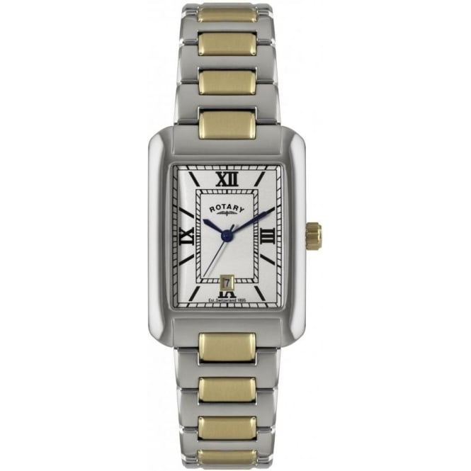 Rotary Watches Gents Two Tone Stainless Steel Watch on Bracelet GB02651/01