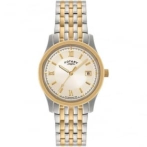 Gents Two Tone Steel Rotary Bracelet Watch GB00793/09