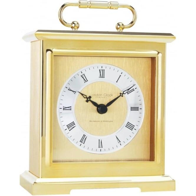 London Clock Company Gold Finich Quartz Battery Chiming Carriage Clock 02101