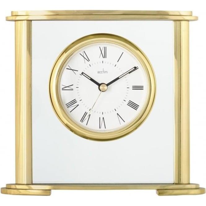 gold finish quartz battery mantlel clock colgrove 36338