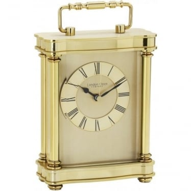 Gold Finish Battery Carriage Clock Height 18.5cm 03067
